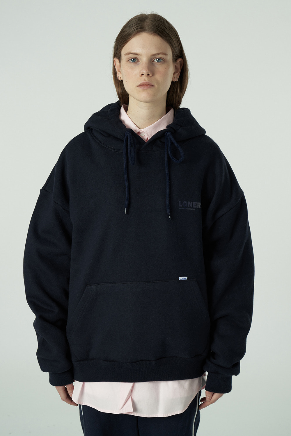 [20SS OPEN SALE][L] Basic gmt hoodie-navy (기간한정 01.17 - 01.23)